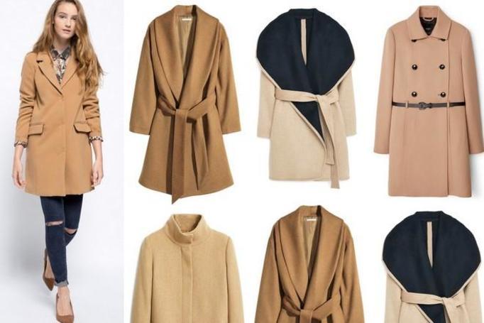 beżowy płaszcz 2015/2016