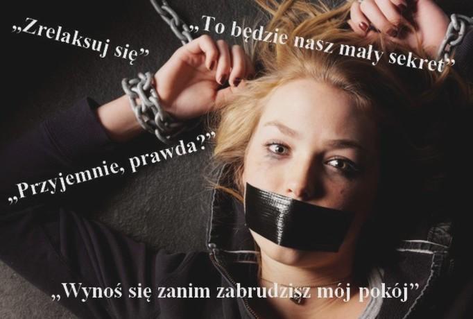 słowa gwałciciela
