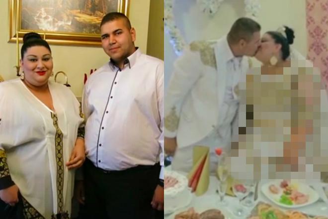 zdobiona suknia ślubna