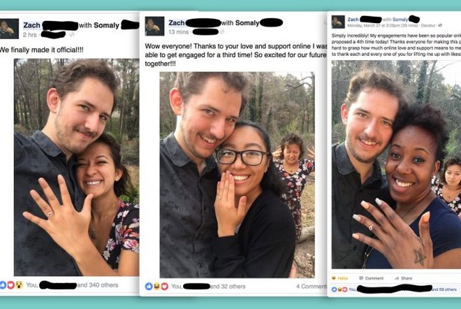 zaręczyny na fb