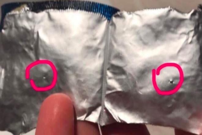 dziurawa prezerwatywa