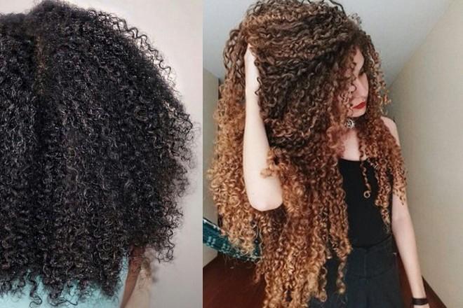 grube włosy