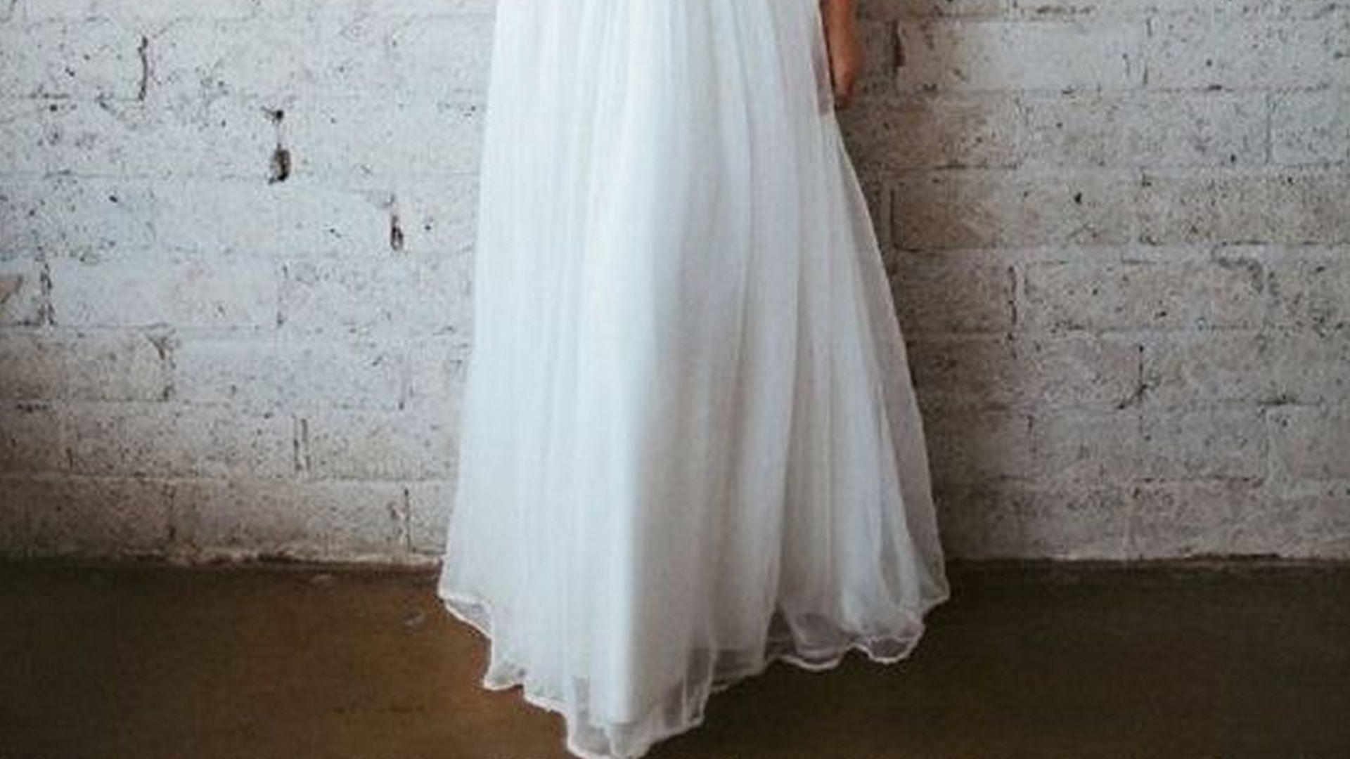 skórzana suknia ślubna