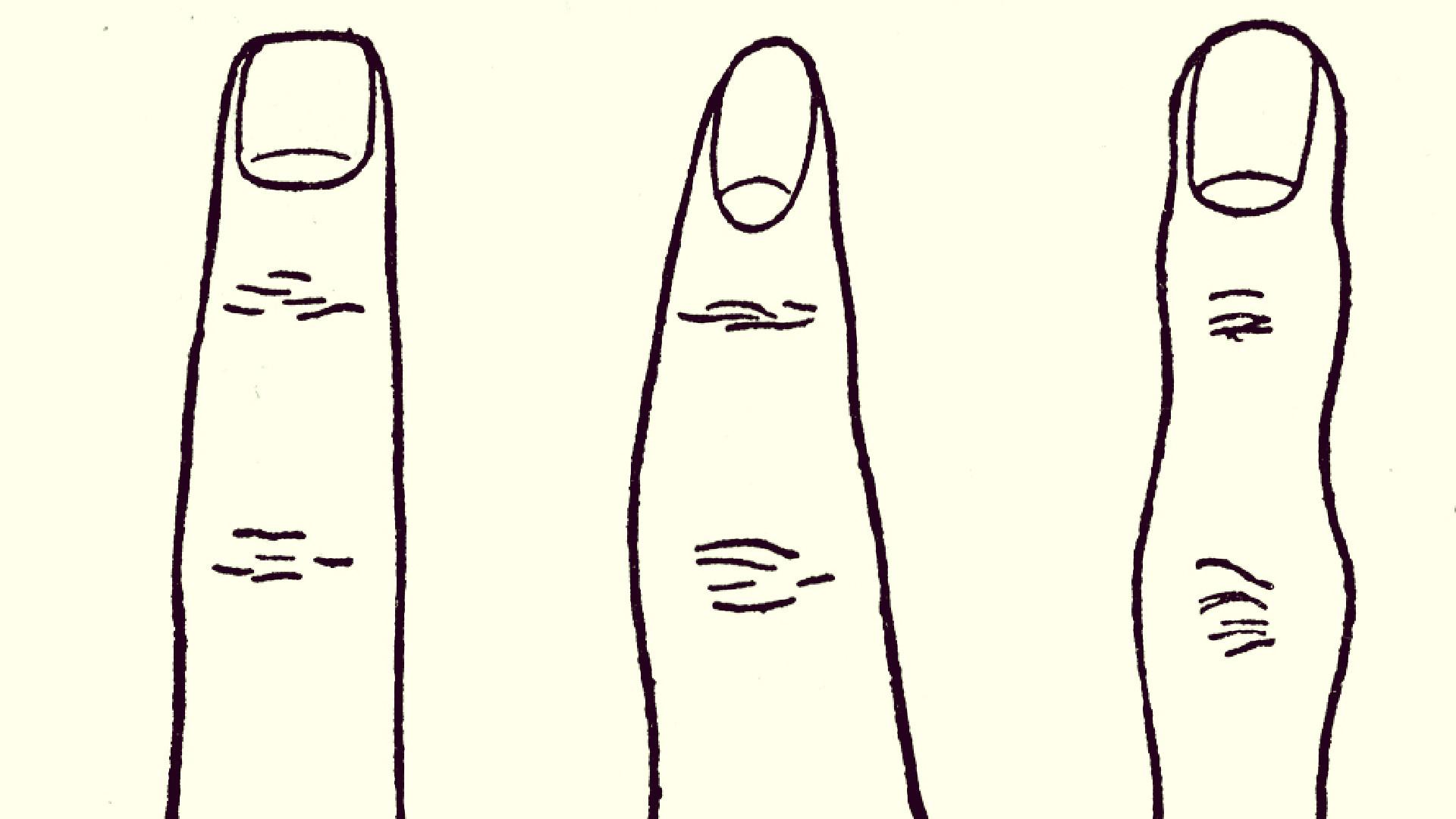 kształt palców a osobowość