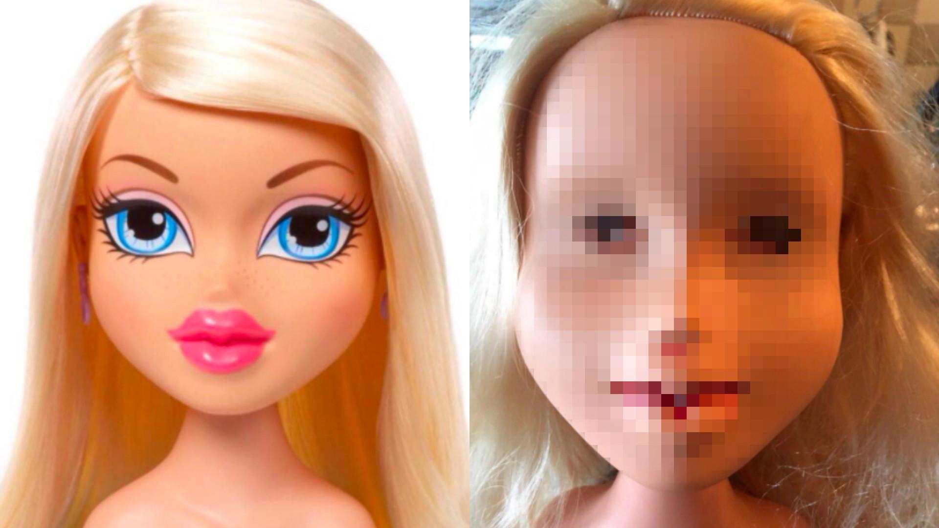 lalka bez makijażu
