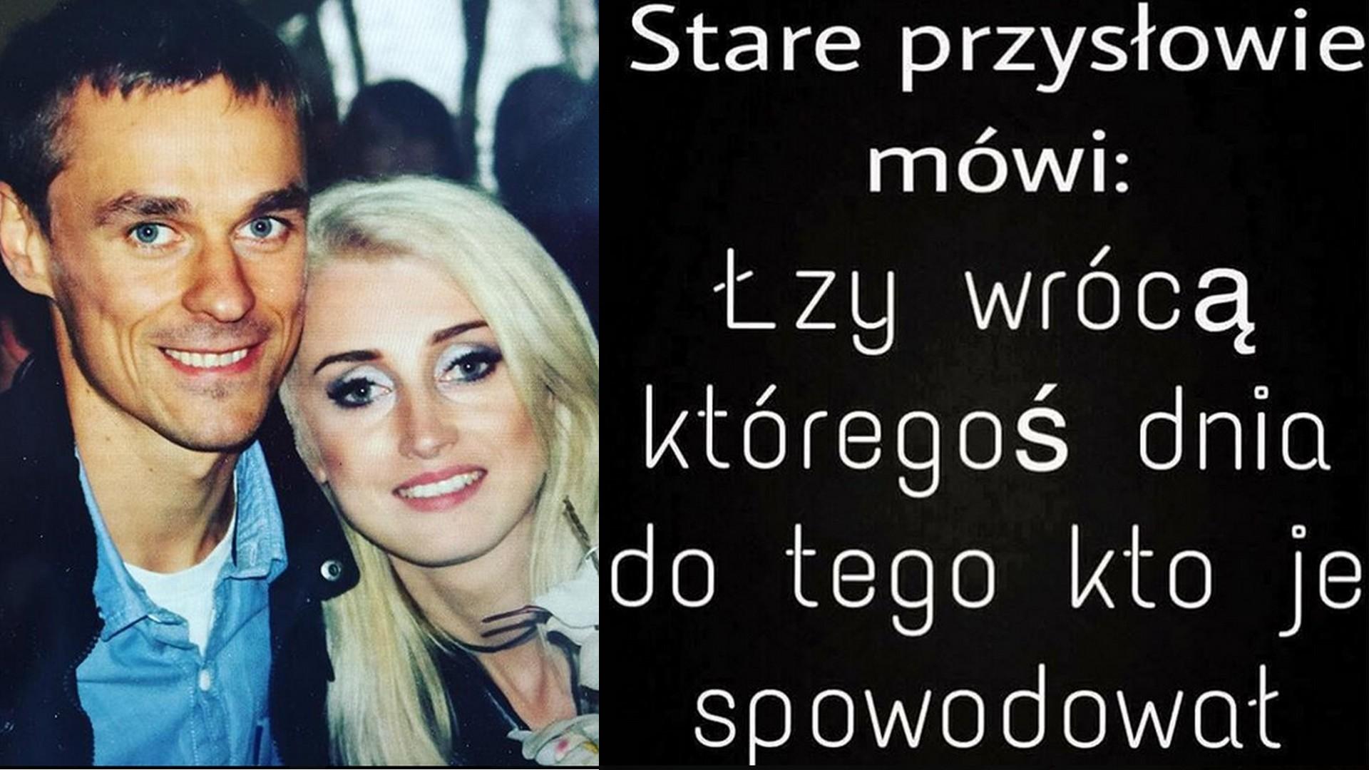 Piotr Żyła i Justyna Żyła