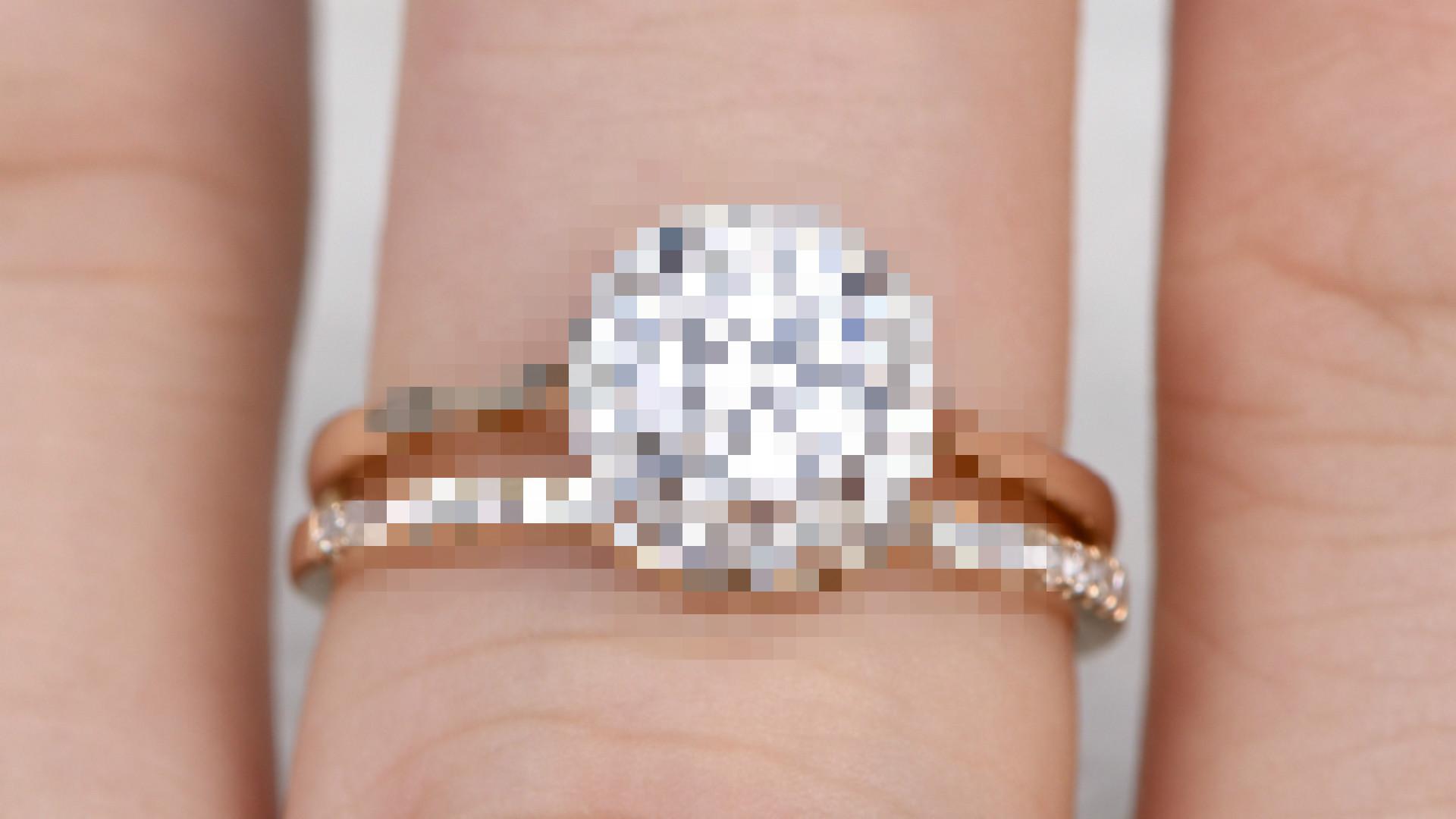 pierścionek zaręczynowy moissanit