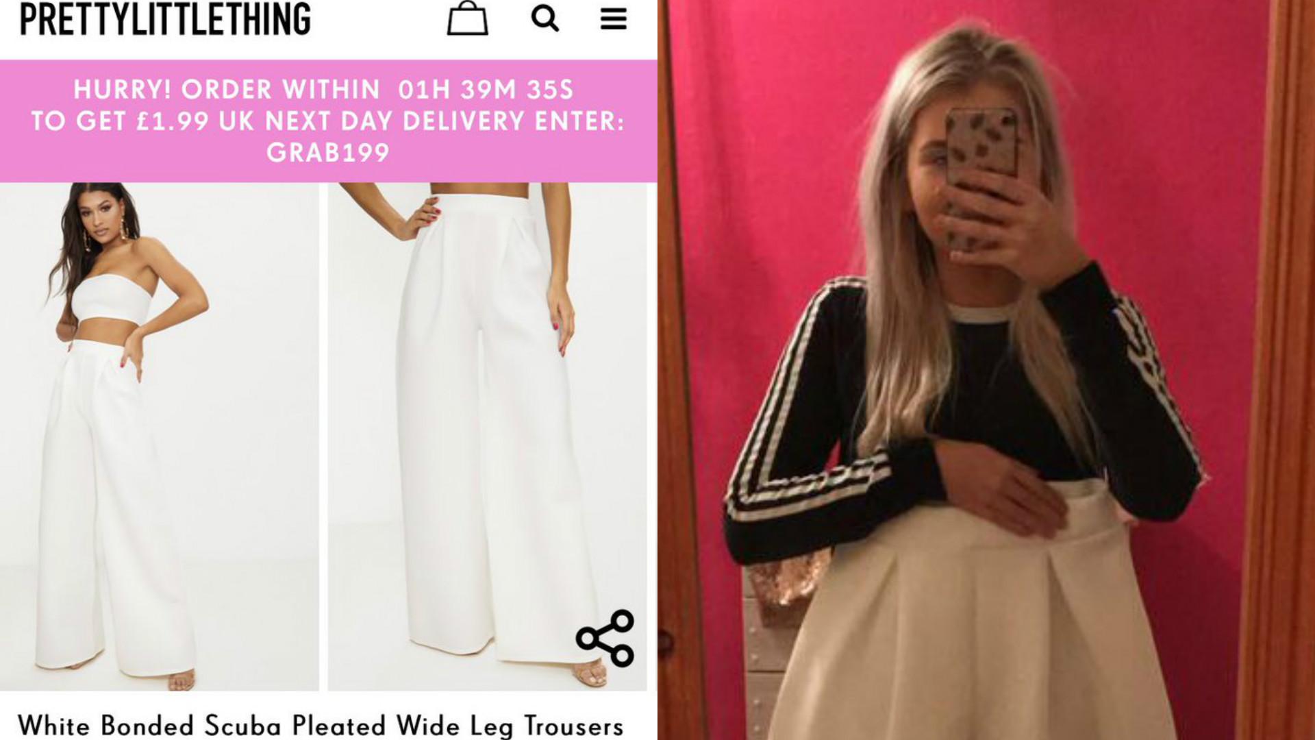 błędna rozmiarówka ubrań